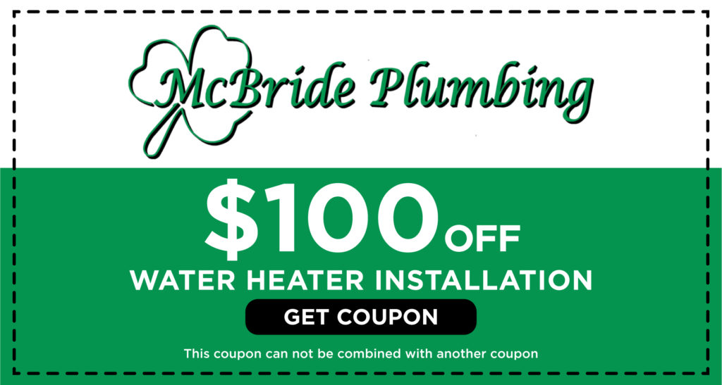 McBride Water Heater Installation Coupon