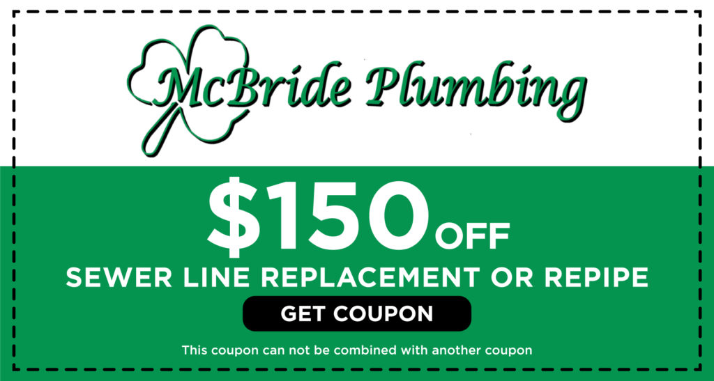 McBride Sewer Line Replacement Coupon